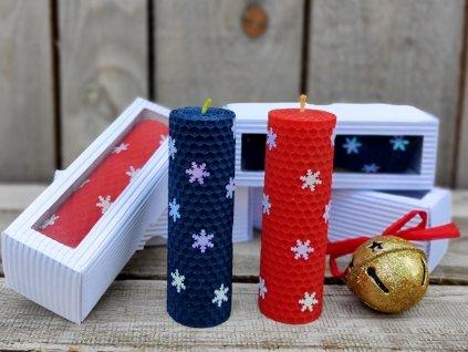 vánoční svíčka v krabičce