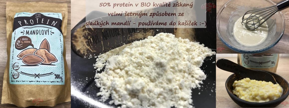 Mandlový protein NATU - skvělý do kašiček