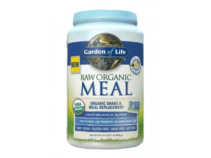 Raw organic meal vanilla 969g