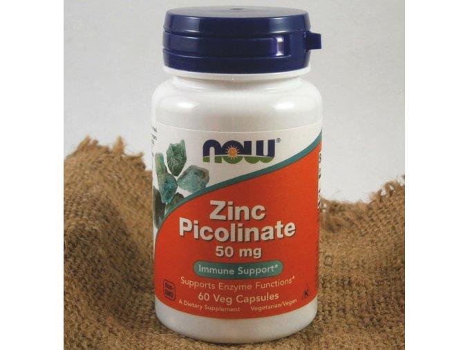 zinek pikolinat now foods 60 roslinnych kapslí