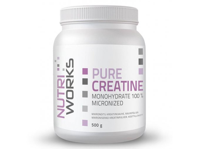 pure creatine monohydrate nutriworks 500g