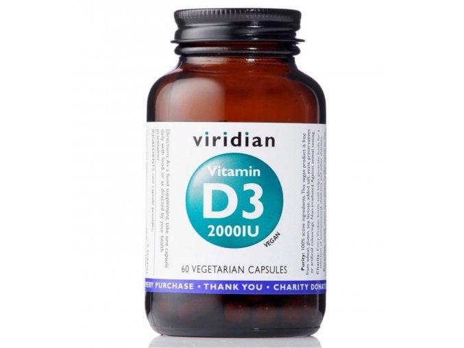 vitamin D3 200IU viridian 60 cps