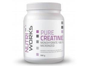 pure creatine monohydrate nutriworks 500g