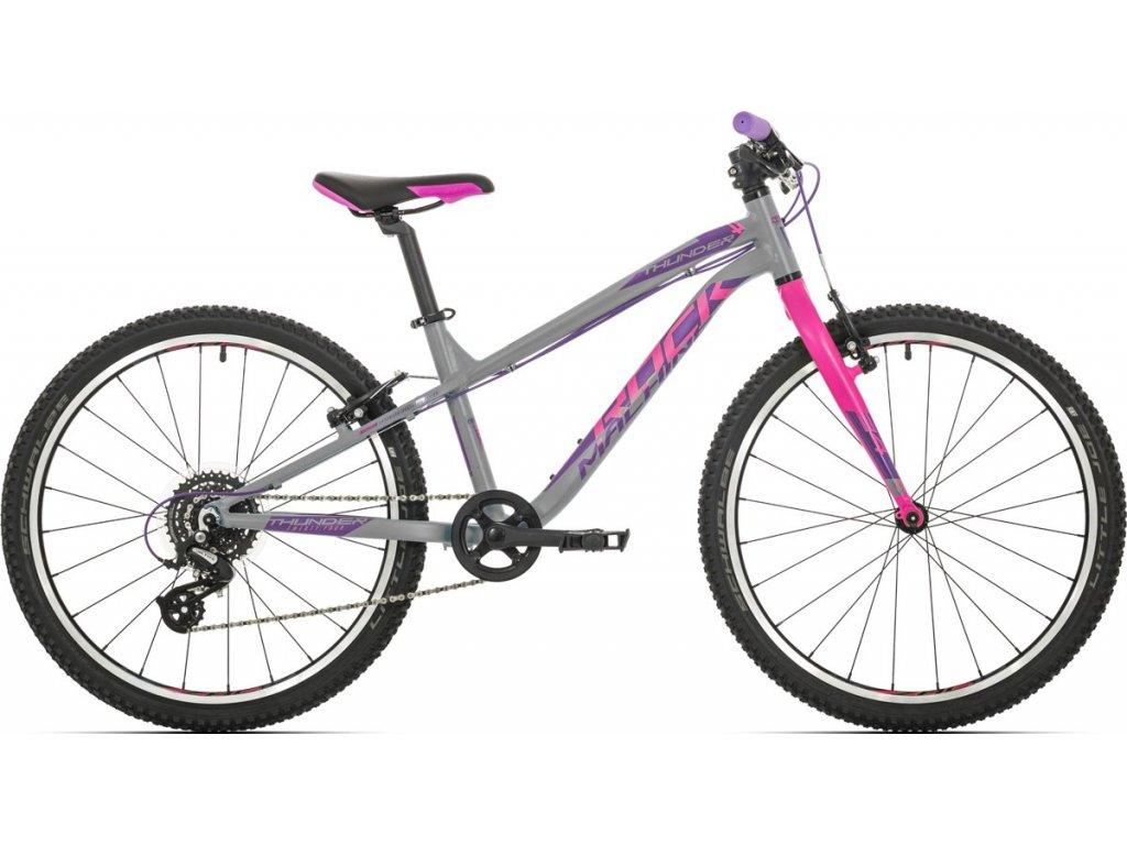 Rock Machine Thunder 24 gloss grey/pink/violet 2019  Pro registrované možnosti Bonusu