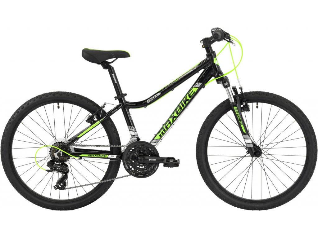 Maxbike Pindos 24 2019 černý lesklý / zelená  Pro registrované možnost akce až 15% sleva