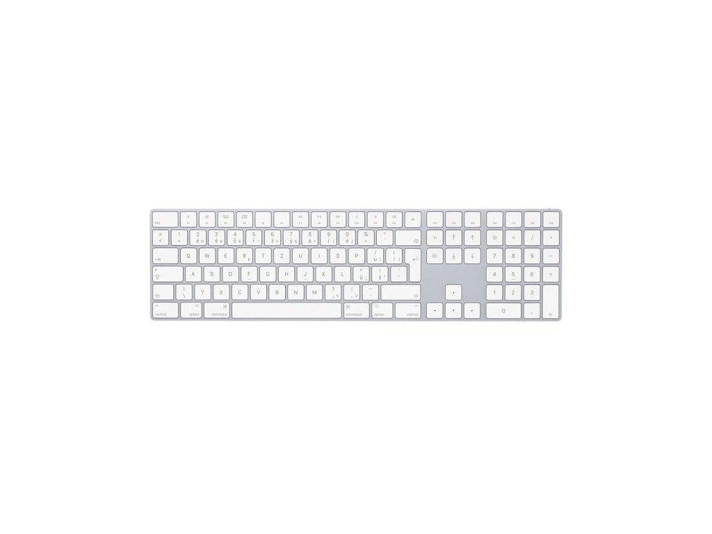 Klávesnice Apple Magic s numerickou klávesnicí - Czech bílá (mq052cz/a)