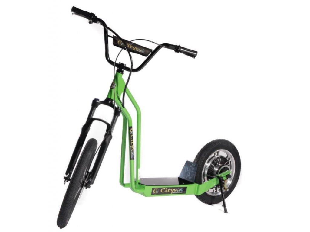 CITIWIEL elektro koloběžka Premium zelená s odpruženou vidlicí