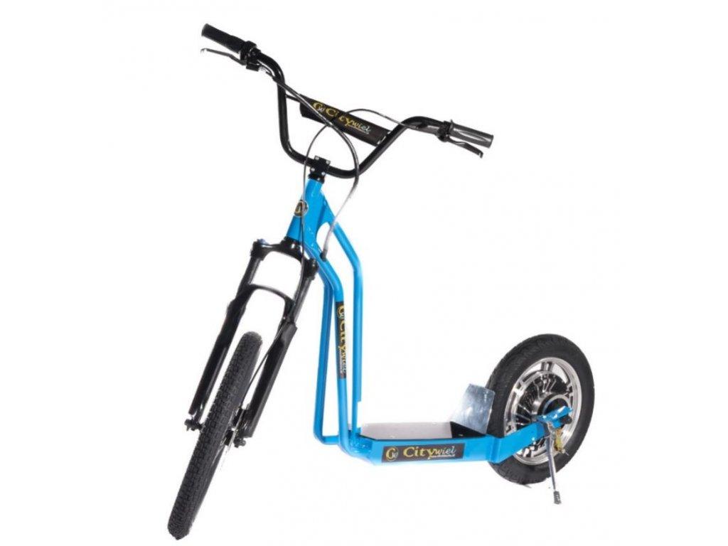 CITIWIEL elektro koloběžka Premium modrá s odpruženou vidlicí