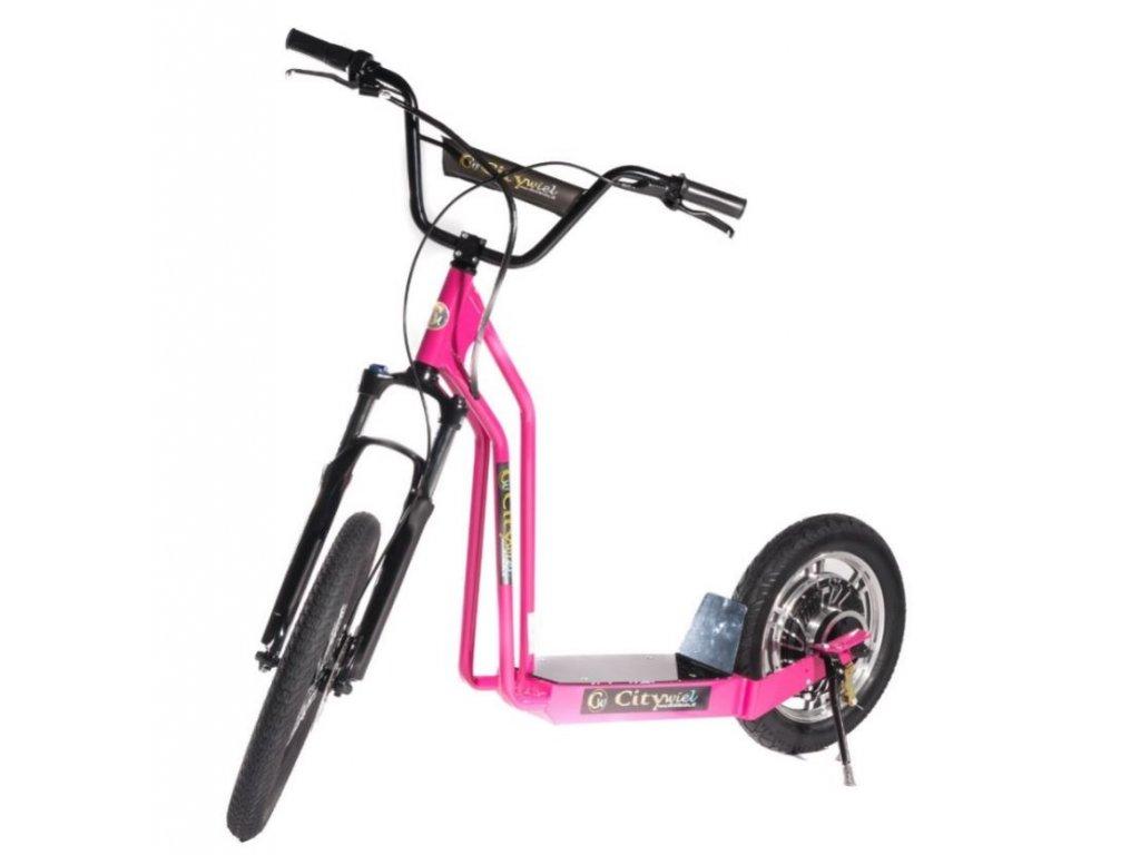 CITIWIEL elektro koloběžka Premium růžová s odpruženou vidlicí