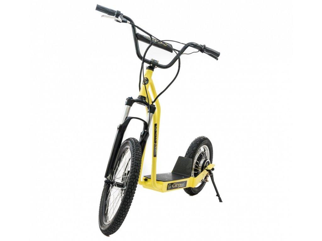 CITIWIEL elektro koloběžka Premium žlutá s odpruženou vidlicí 11,8 Ah