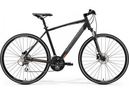 Merida CROSSWAY 20-D Matt Black(Orange) 2019