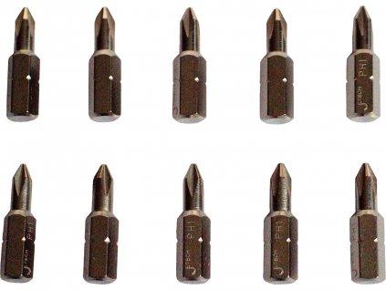 hroty křížové PH, sada 10ks, PH 0x25mm, CrMoV