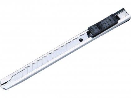 nůž ulamovací celokovový nerez, 9mm, Auto-lock