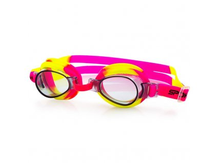 Spokey JELLYFISH Dětské plavecké brýle růžovo-žluté