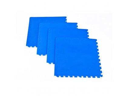 Spokey SCRAB - Podložka puzzle pod fitness vybavení, 1,2 cm_modrá_4 kusy 61x61 cm