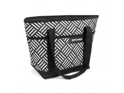 Spokey ACAPULCO Termo taška malá, černo-bílá, 39 x 15 x 27 cm