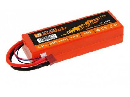 LiPo Aku 7,4 V / 6500 mAh - 45C Pro Racing T-Dean  U nás dostupné služby je možné platit Benefity