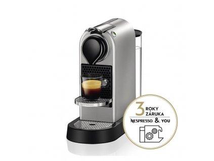 Espresso Krups Nespresso Citiz XN741B10 stříbrné