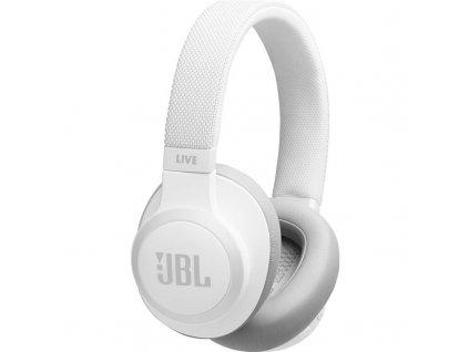 Sluchátka JBL LIVE 650BTNC bílá