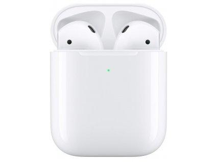 Sluchátka Apple AirPods, bezdrátové nabíjení (2019) bílá (MRXJ2ZM/A)