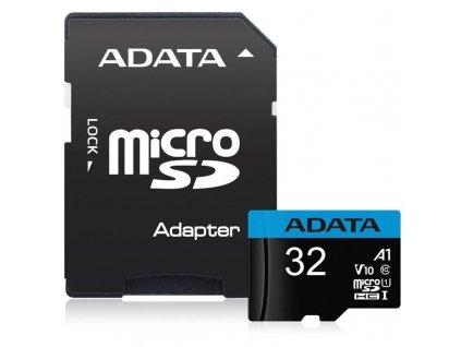Paměťová karta ADATA Premier Micro SDHC 32GB UHS-I (85R/20W) + adaptér (AUSDH32GUICL10A1-RA1)