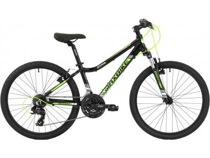 Maxbike Pindos 24 2019 černý lesklý / zelená