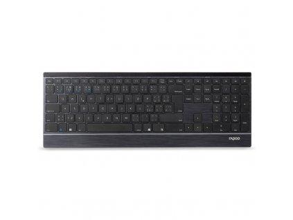 Klávesnice s myší Rapoo 9500M, CZ+SK layout šedá