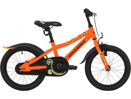 """Maxbike 16"""" 2019 matně oranžové  Pro registrované možnost akce až 15% sleva"""