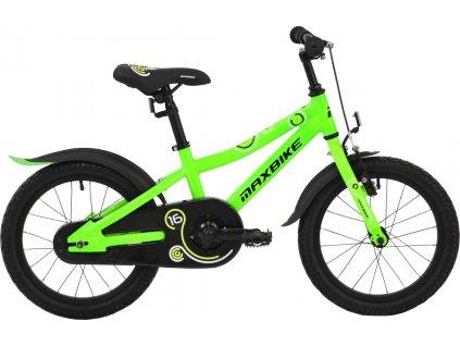 """Maxbike 16"""" 2019 zelené reflex  Pro registrované možnost akce až 15% sleva"""