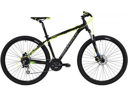 Maxbike Apo 29 2019 černý matný + žlutá + zelená  Pro registrované možnost akce až 15% sleva
