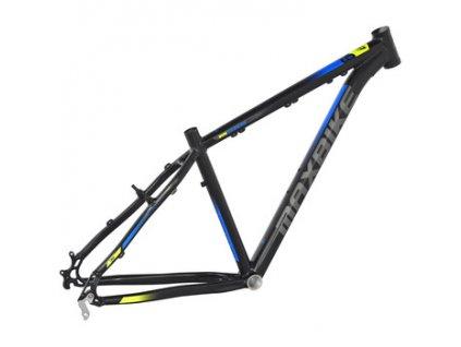 MaxbikeTaal 29 2019 černý matný + modrá + žlutá  Pro registrované možnost akce až 15% sleva