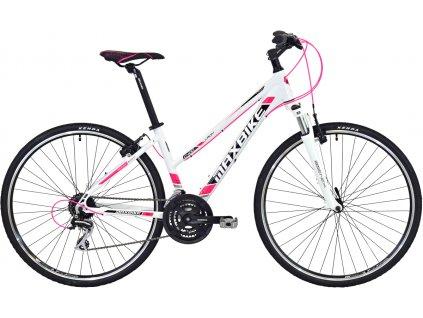 Maxbike Cavalla lady 2019 bílý + růžová  Pro registrované možnost akce až 15% sleva