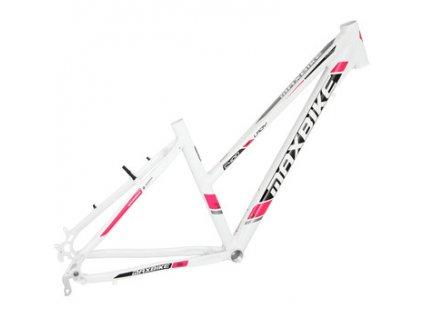 Maxbike Aven lady 2019 lesklý bílý + růžová  Pro registrované možnost akce až 15% sleva