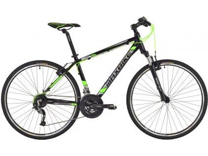 Maxbike Aras 2019 černý lesk + zelená  Pro registrované možnost akce až 15% sleva