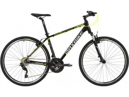 Maxbike Maas 2019 černý lesk + žlutá reflex  Pro registrované možnost akce až 15% sleva