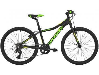 Maxbike Denali 24 2020 černý matný + zelená - žlutá  Pro registrované zákazníky zajímavé bonusy, akce a to i na jiné značky naší nabídky modelů 2020