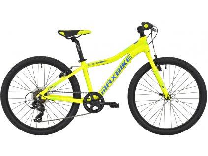 Maxbike Denali 24 2020 žlutý reflex + modrá - zelená  Pro registrované zákazníky zajímavé bonusy, akce a to i na jiné značky naší nabídky modelů 2020