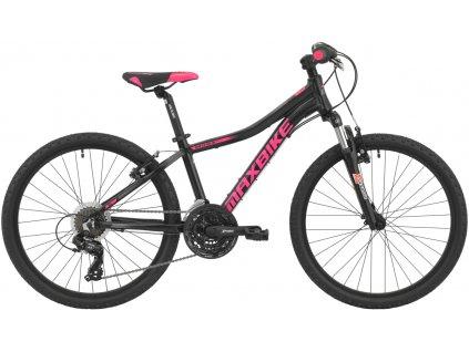 Maxbike Pindos 24 2020 černý matný + růžová - šedá  Pro registrované slevy až 15% a další výhody
