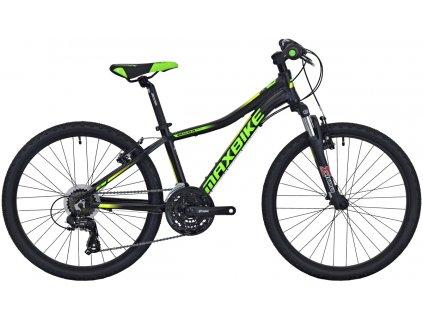Maxbike Pindos 24 2020 černý matný + zelená - žlutá  Pro registrované slevy až 15% a další výhody