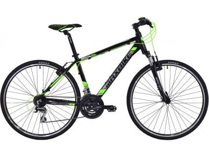 Maxbike Cavalla 2020 černý lesk + zelená  Pro registrované zákazníky zajímavé bonusy, akce a to i na jiné značky naší nabídky modelů 2020