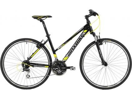 Maxbike Naryn lady 2020 lesklý černý + žlutá  Pro registrované zákazníky zajímavé bonusy, akce a to i na jiné značky naší nabídky modelů 2020