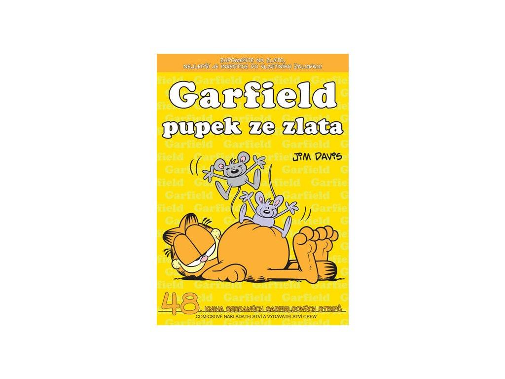 Garfield pupek ze zlata (č. 48)