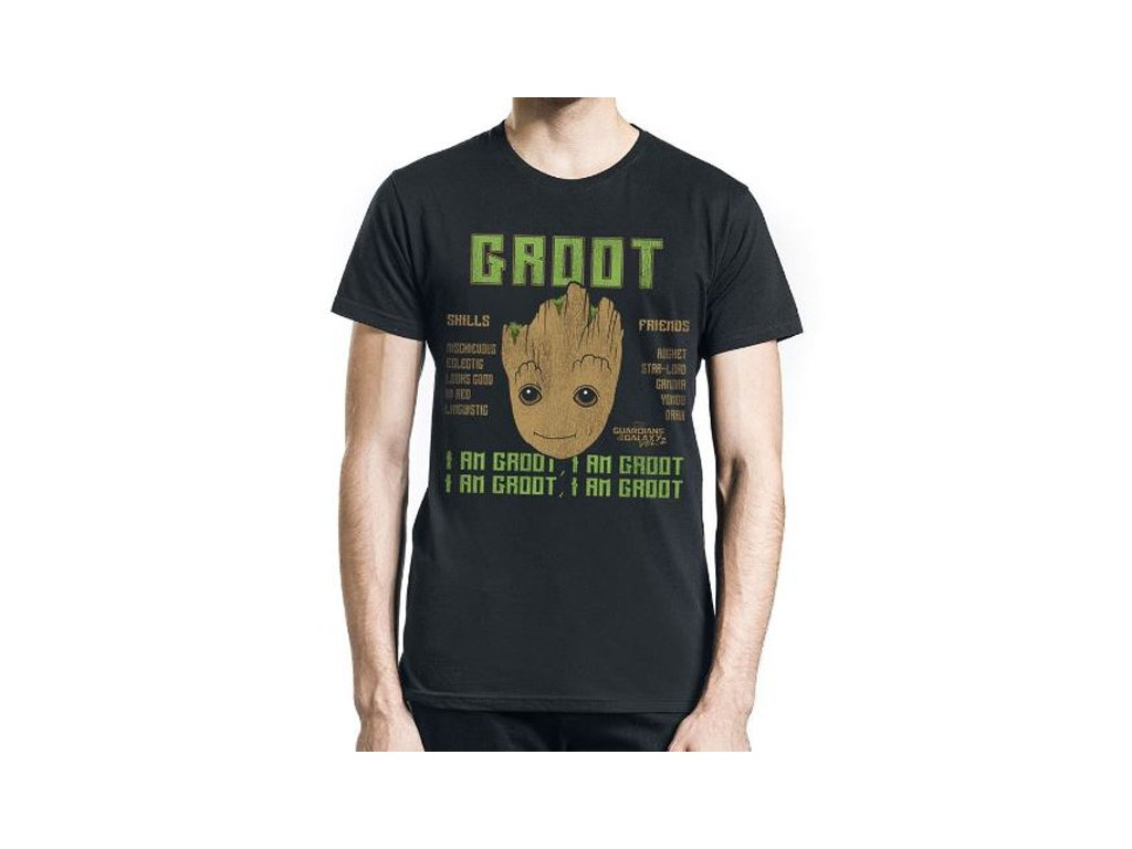 Tričko pánské GUARDIANS OF THE GALAXY/GROOT (M)