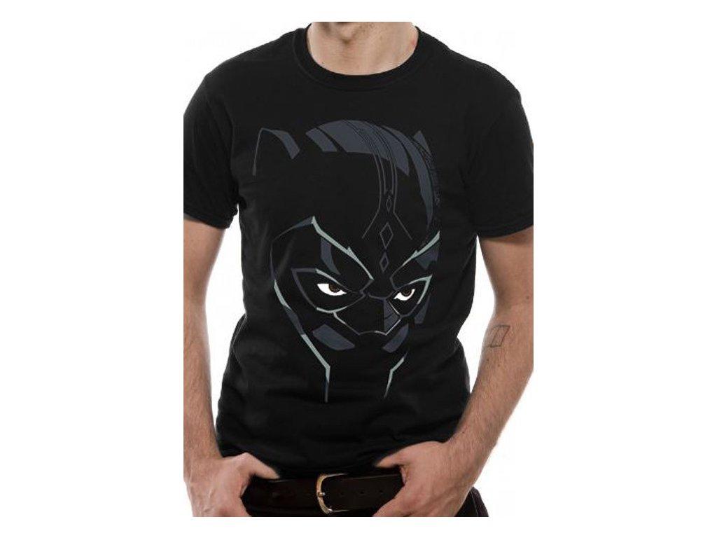 414620 tricko panske black panther cerne velikost m