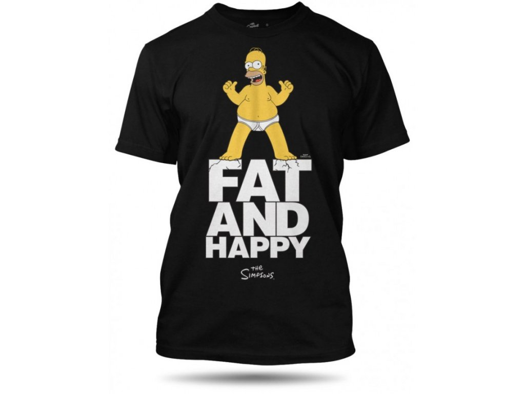 tricko homer fat and happy panske