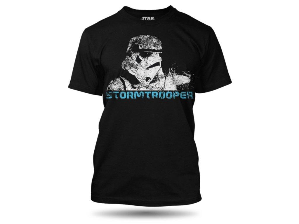 tricko stormtrooper cerne
