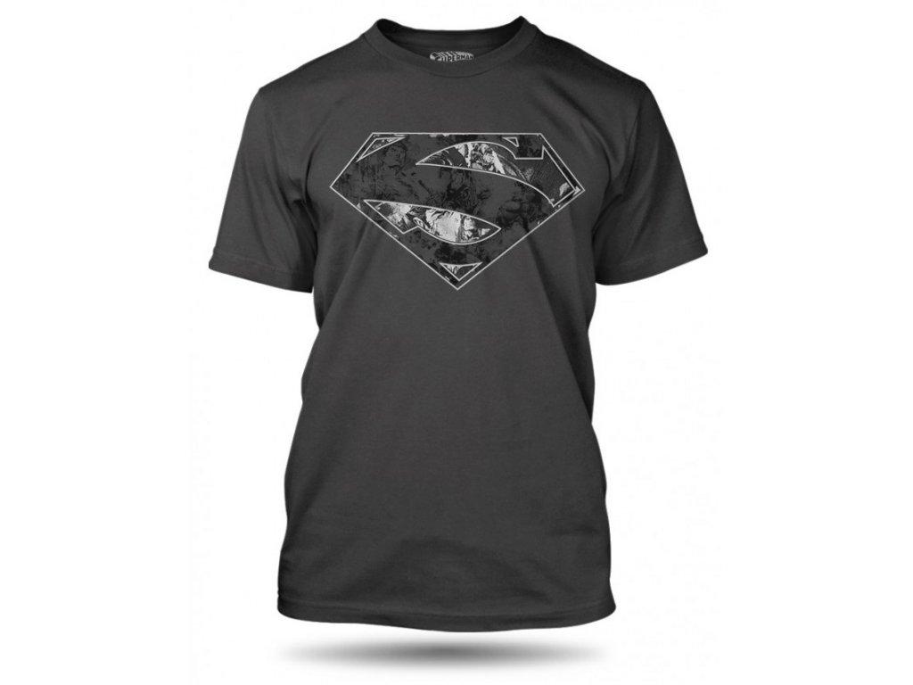 tricko superman logo dark panske