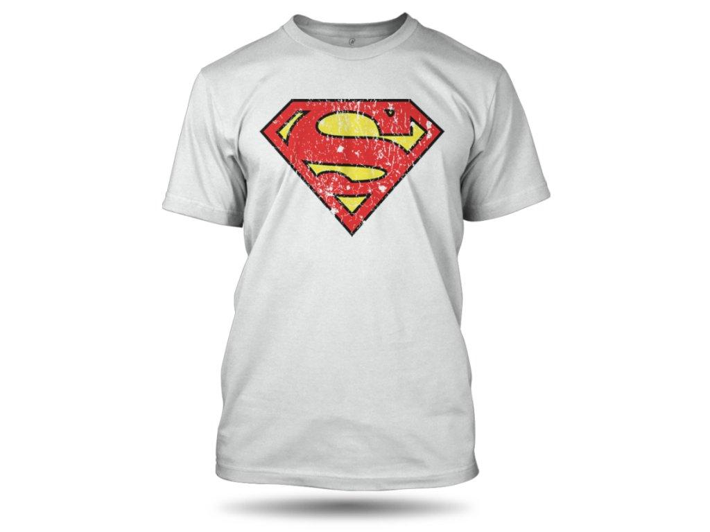 tricko superman washed bile panske