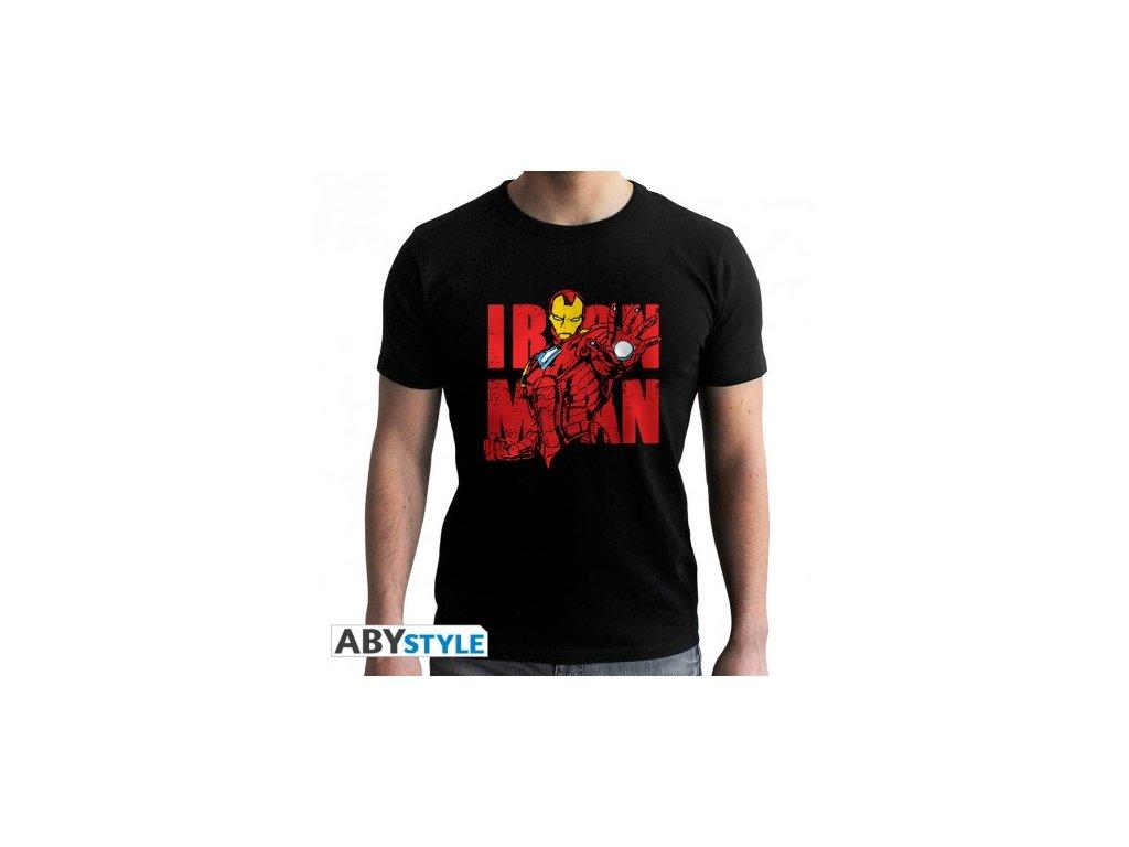 "Tričko černé ""Iron Man Graphic"""