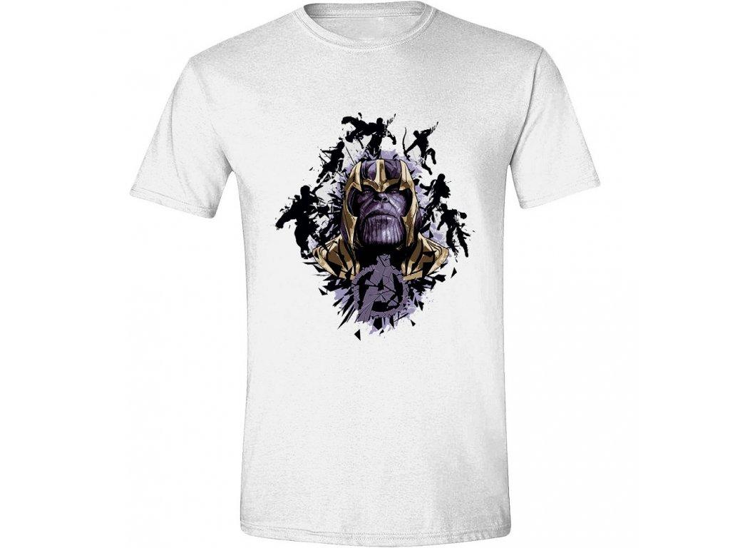 Pánské tričko Avengers: Endgame - Warlord Thanos - bílé (Velikost XL)
